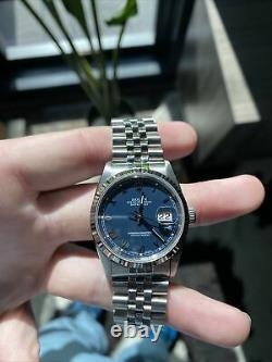 Rolex Oyster Perpetual DateJust 36mm 16234 Blue Roman Numeral Dial (2002)