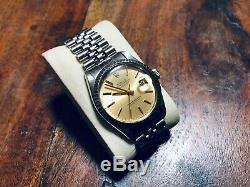 Rolex Oyster Perpetual Datejust, Champagne Dial, REF 16030 jubilee bracelet