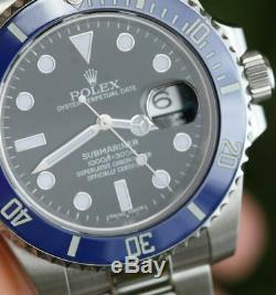 Rolex Submariner 116610 Steel Bruiser Batman Custom Bezel 4 White Gold 116619