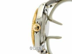 Rolex Submariner 18k Yellow Gold & Steel Watch Diamond Blue Sapphire MOP 16803