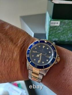 Rolex Submariner Blue Men's Watch 16613, balance of warranty until April 2022