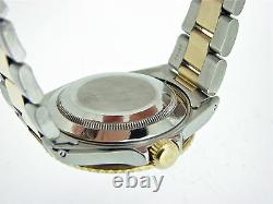 Rolex Submariner Date Mens 18k Yellow Gold Stainless Steel Blue Sub Watch 16613
