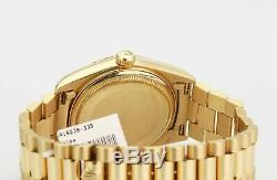 Rolex Watch Mens Day-Date 18038 Presidential 18k Yellow Gold White Stick Dial