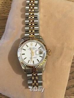 Rolex Watch Oyster Perpetual Datejust Ladies Jubilee Bracelet Gold Steel