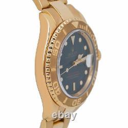 Rolex Yacht-Master 16628 B 18k Yellow Gold Blue Dial Mens 40mm Watch