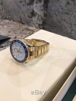 Rolex Yacht-Master II Auto 44mm Yellow Gold Mens Oyster Bracelet Watch 116688