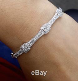 STEAL DEAL! 1.50CT 100% Natural Diamond Tennis Bangle Bracelet 14K Yellow Gold