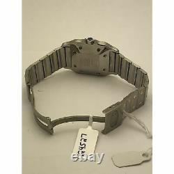 Santos de Cartier Ladies White Dial Two Tone S Steel Bracelet Watch 124527