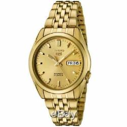 Seiko 5 Automatic Gold Stainless Steel 38mm Case Mens Watch SNK366K1