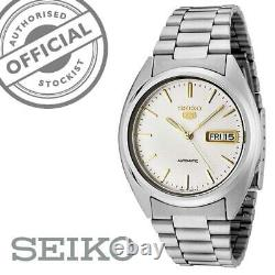 Seiko 5 Automatic White Dial Stainless Steel Mens Watch SNXG47K1 SNXG47 RRP £169