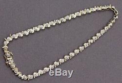 Stunning 9ct 375 Yellow Gold & Diamond Tennis Bracelet Ladies Gift Anniversary