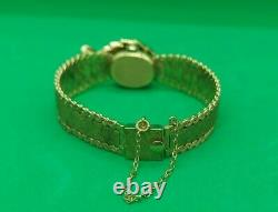 Stunning Hamilton 14k Gold and Diamond Watch Bracelet 34.4 Grams Rare Vintage