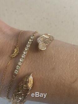 Suzanne Kalan 14k Yellow Gold White Sapphire Bracelet Nieman Marcus Net A Porter