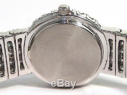 TOURNEAU Lady's 18K White Gold & Diamond Bracelet Watch Approximately 13.50ct