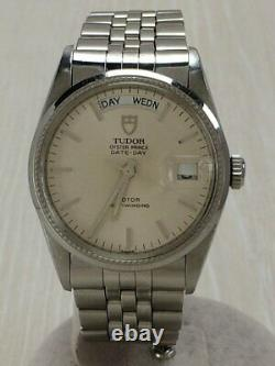 TUDOR Oyster Prince Date-Day 94710 Automatic Watch White Dial Used