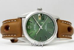 Tudor Prince Oysterdate Hulk Green Men's Vintage Wrist Watch 74000