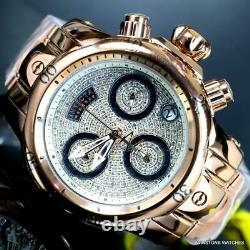 Unisex Invicta Reserve Venom 1.15CTW Diamond 42mm Rose Gold Tone Swiss Watch New