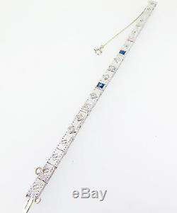 VINTAGE 1.04 CT OLD CUT DIAMOND SET 14k WHITE GOLD BRACELET valuation $6360