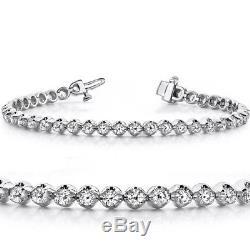 VS/G 1ct Diamond Classic Tennis Bracelet U Prong White Gold 7