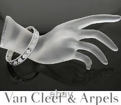Van Cleef & Arpels 18K WG Perlee Diamond Bangle Bracelet Box Papers