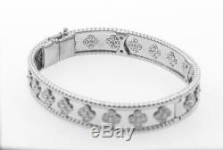 Van Cleef & Arpels Perlée Clovers 18k White Gold Bracelet