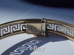 Versace 9ct Yellow and White Gold Bracelet Hallmarked