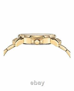 Versus Versace Mens 6E Arrondissement IP Yellow Gold 46mm Bracelet Fashion Watch