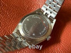 Very Rare Tudor Prince Date Black Dial Automatic Watch 74000 with Paper & Tag