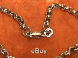 Vintage Estate 14k White Solid Gold Bracelet Chain Designer Signed Scr Italy