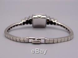 Vintage Ladies Rolex Precision 18k White Gold Diamond Bracelet Manual Watch 22g