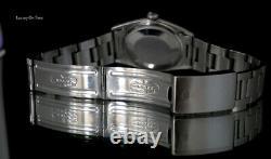 Vintage Men's Rolex Datejust 1601 S. Steel Silver Dial 18k White Gold Bezel 36mm