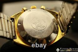 Vintage Omega Jedi 176.005 Chronograph Gold Filled 1972 Cal 1040 Lemania Auto TV