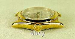Vintage Rolex Precision Oyster Perpetual 29mm Gold Shell Ladies Watch Ref 6020