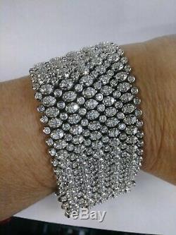 Vintage Tiffany & Co. 18KT White Gold Diamond Tennis Bracelet 40.00cts