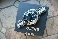 Vostok Amphibian Russian Mechanical Auto Diver Men's wrist watch 170894