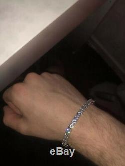 White Natural Diamond 18ct White Gold Tennis Bracelet