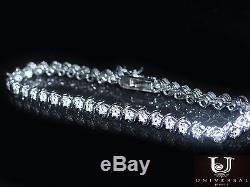 Women's 14K White Gold Finish S-Link Tennis Bracelet, 7.0 Inches