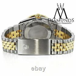Women's Rolex 26mm Datejust 2 Tone White MOP Mother Of Pearl 8+2 Diamond Dial